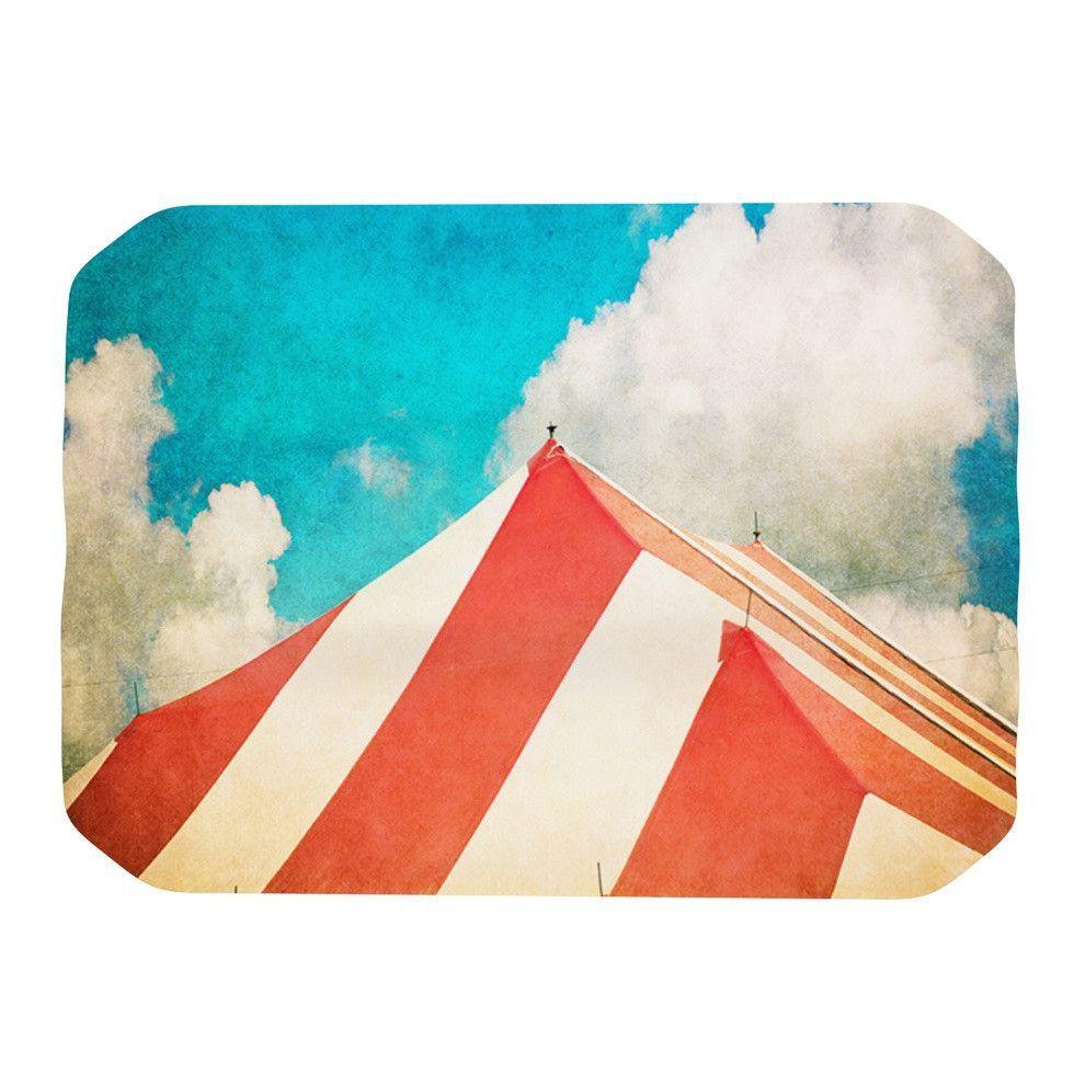 "Ann Barnes ""The Big Top"" Red Blue Place Mat"