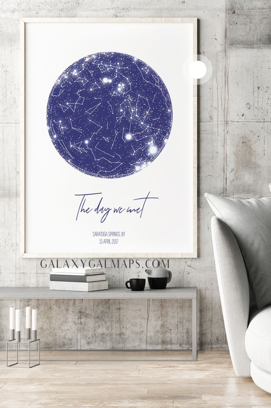 Personalized Star Map Astronomy Print Wall Art Art Printable