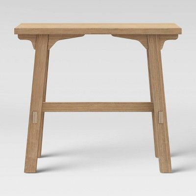 Creswell Wood Console Table Natural Threshold In 2020 Wood Console Table Wood Console Metal Console Table