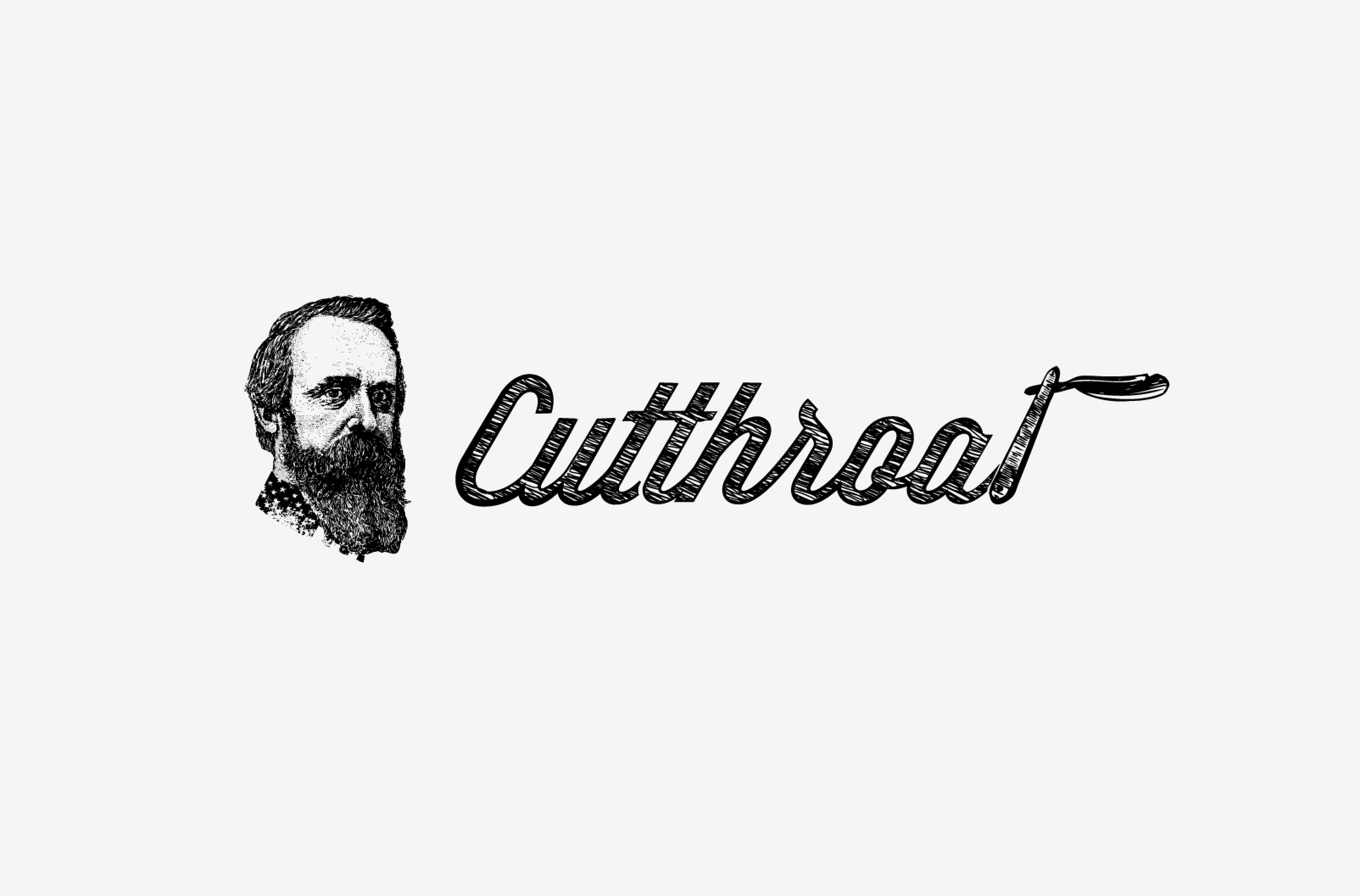 Logo Design, Graphic Design for Cutthroat Barbers in Houston, TX