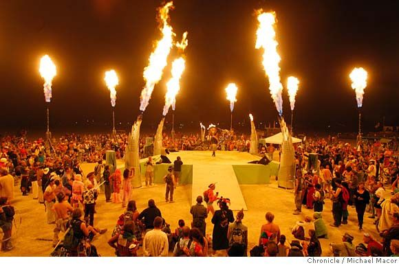 Burning man festival, USA Every year in Nevada around August or September, a week-long spectacle called Burning Man will attract up to 30,00...