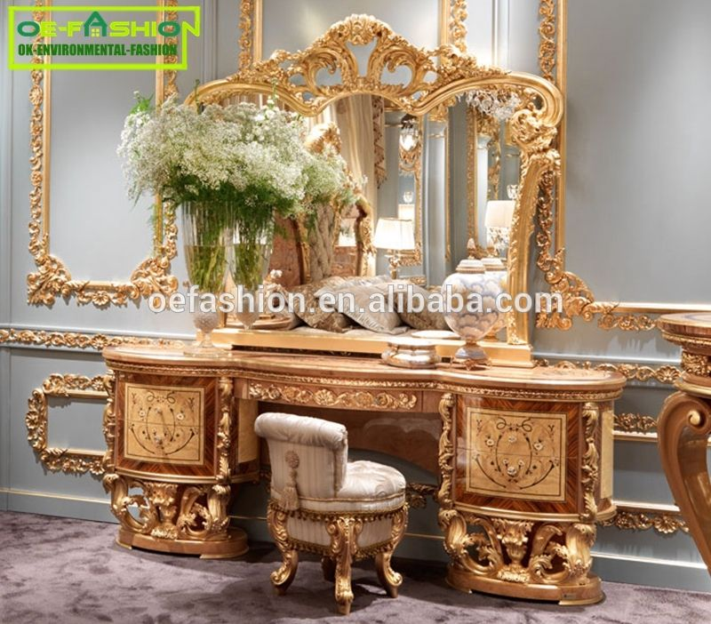 Oe Fashion European Luxury Wooden Make Up Dressing Table With Mirror View Modern Dressing Table With Mirrors Oe Fashion Product Details From Foshan Oe Fashion Golden Furniture Luxury Home Furniture Bed Furniture Design