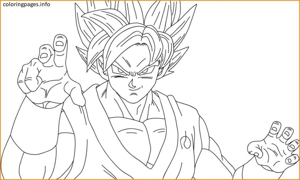 Ssgss Goku Coloring Pages Coloring Pages Pinterest Goku Goku Coloring Pages