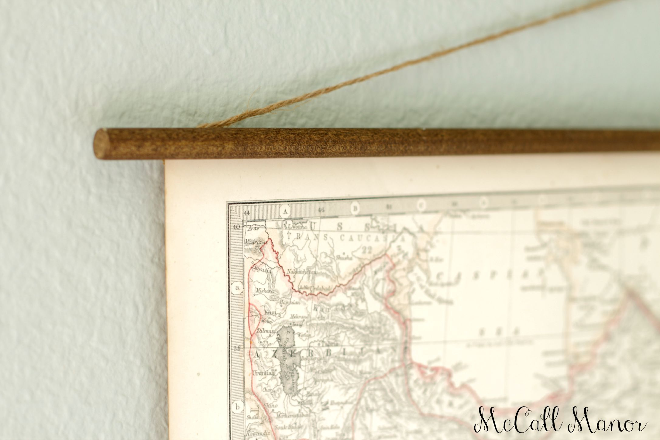 How to hang old maps - McCall Manor | Farmhouse decor in ... Map Hanger on map mirror, map scrapbook, map plastic, map hwy 224 clackamas 32nd, map chair, map of downtown denver rtd, map bag, map accessories, map skirt,