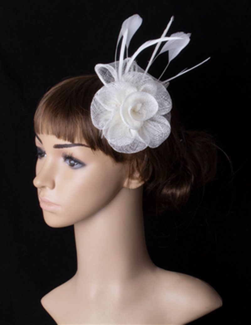 Sinamay /& feather wedding fascinator hair clip.special occassion colour choice