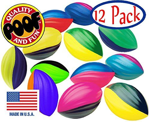 POOFSlinky 511S12 85Inch Foam Power Spiral Turbo Footballs Case of 12 Assorted Colors ** For more information, visit image link.Note:It is affiliate link to Amazon.