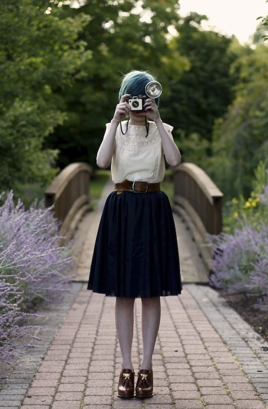 slip dress (worn as top), vintage belt, Lace Affair skirt, Seychelles heeled loafers #style #inspiration