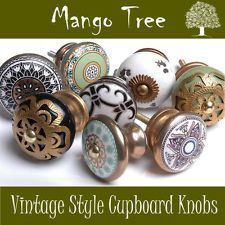 Vintage Style Antique Finished Ceramic Cupboard Knobs Kitchen Door Drawers