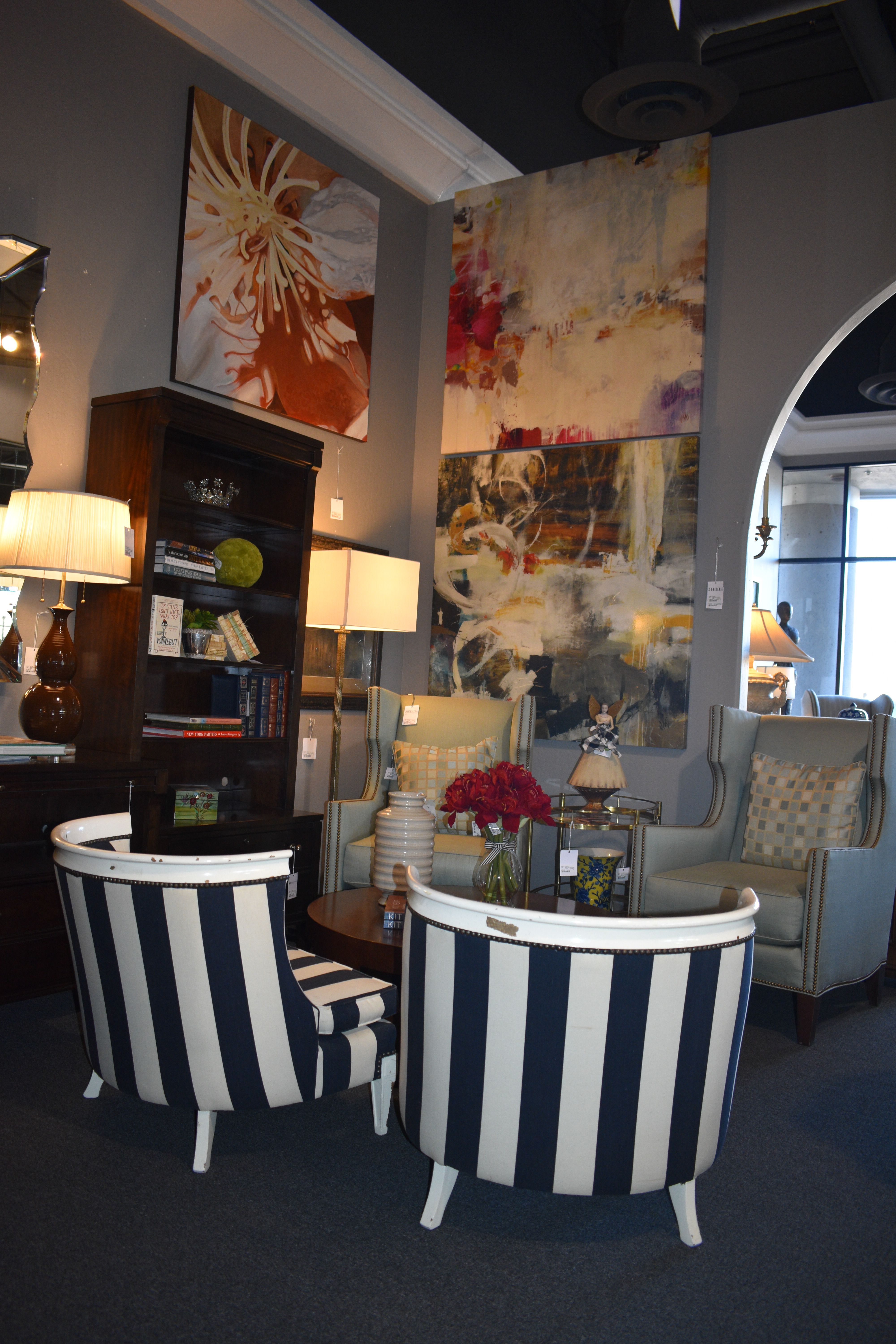 Striped Accent Chairs Found Only At Avery Lane In