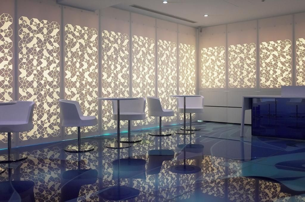 Corian Wall Cladding Engraved And Backlit Inneneinrichtung
