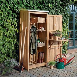 Gerateschrank Teak Lagerschuppen Gartenschrank Aufbewahrung Garten