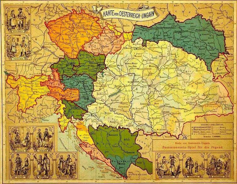Karte Von Oesterreich Ungarn Landkarte Ungarn Osterreich