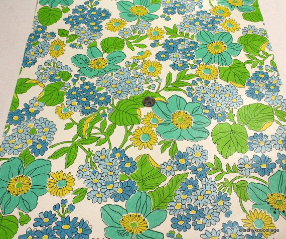 Retro Wallpaper by the Yard 70s Vintage Wallpaper - 1970s ...