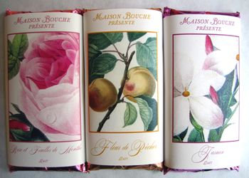 Rose petal and jasmine flower flavored chocolate bars from Maison Bouche