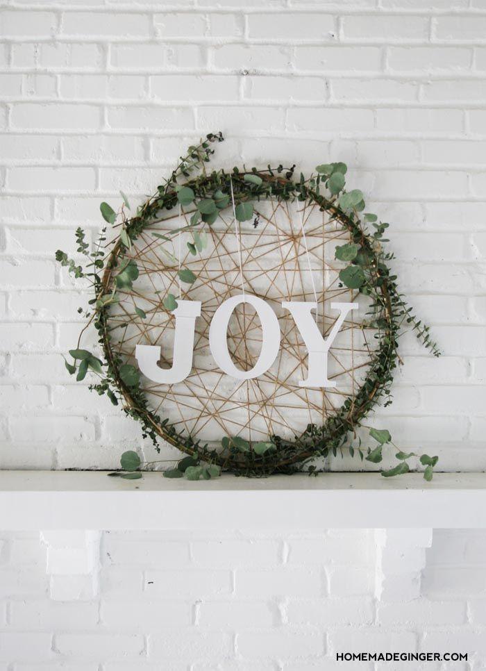 Photo of Giant DIY Christmas Wreath – Homemade Ginger