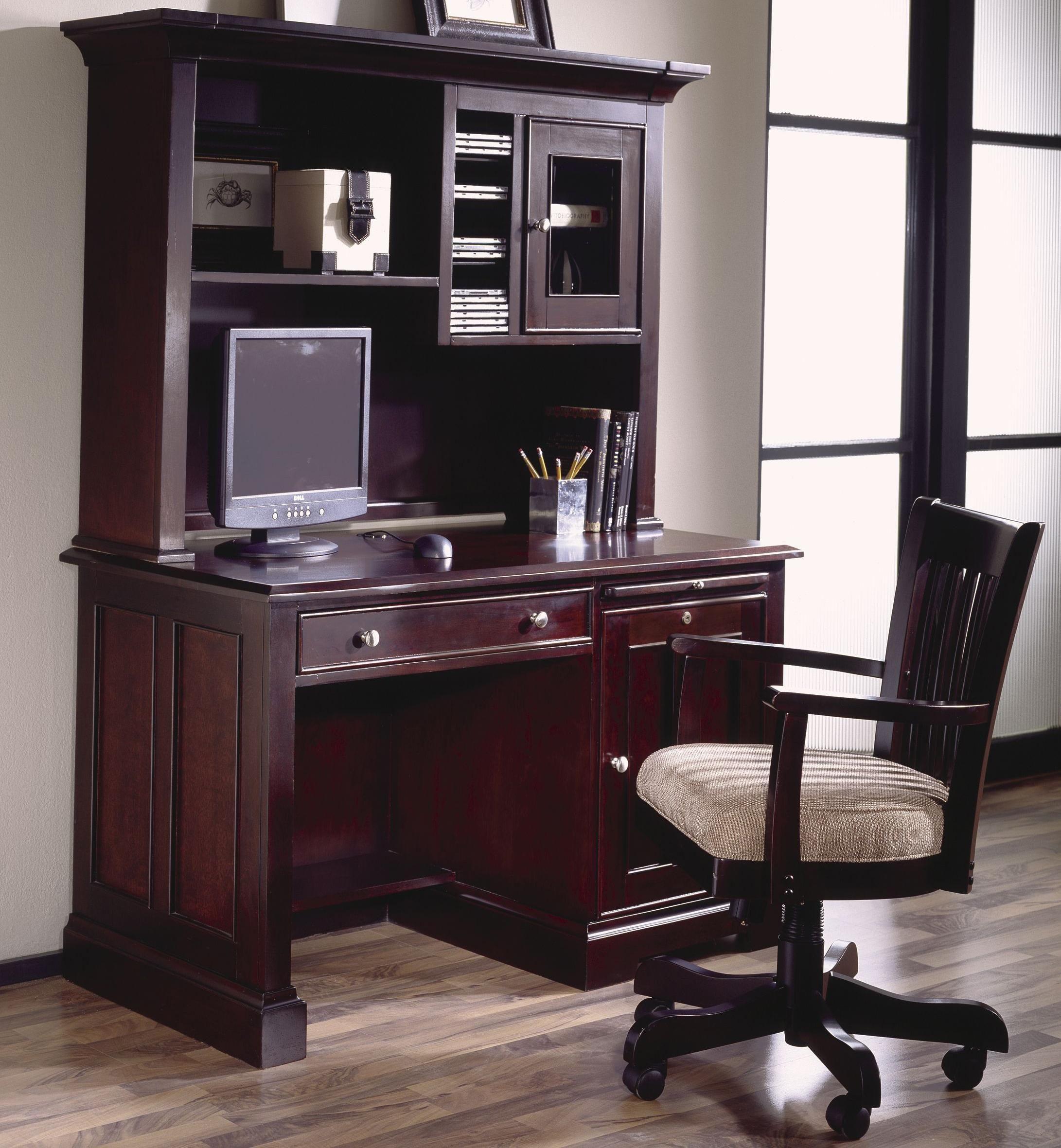 Riverside Furiture Urban Crossings 50 Inch Computer Desk With Hutch Constructed Of Poplar Hardwood Solids And Birch Cherry Veneers Computerdesk