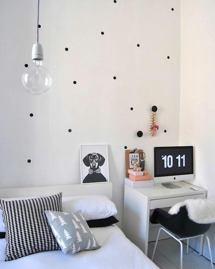 Small Bedroom Decorating Ideas Black And White Part - 20: 19 Black And White Polka Dots Home Decoration Interior Design Spotted Ideas  Kropki We Wnetrzu Bialo Czarne Groszki W Domu Sypialnia W Kropki Spotted  Bedroom