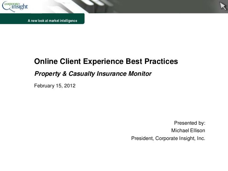 User Experience Best Practices Insurance Industry By Corporate
