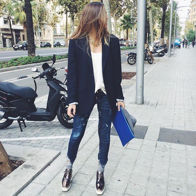 My boyfriend blazer perfect for sunday  #todaywearing #barcelona #sunday