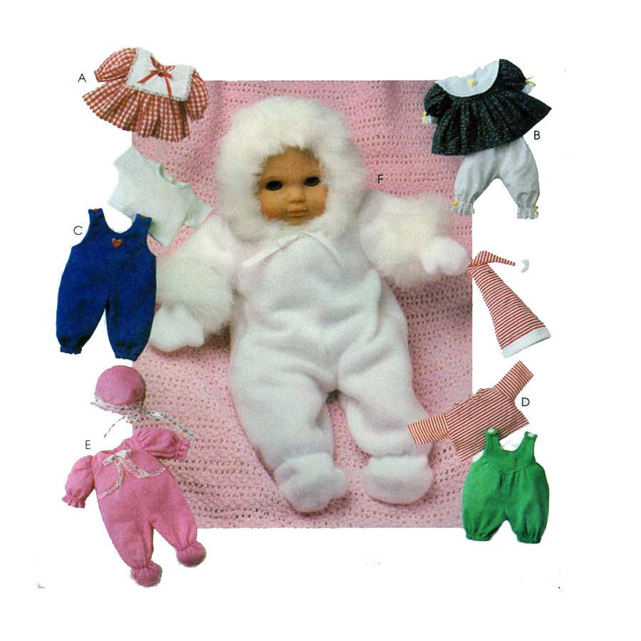 McCalls 9116, Baby Doll Clothing, Sewing Pattern, Doll Size 8\