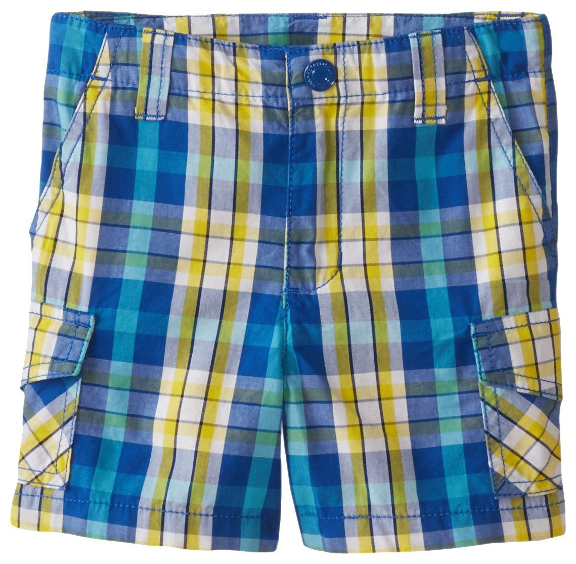 Wes and Willy Little Boys Plaid Cargo Short