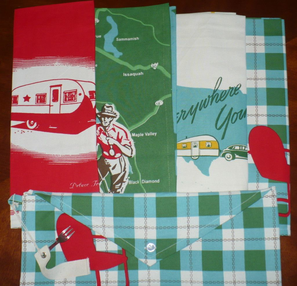 Vintage Repro Great Outdoors camping towels Moda Home New - Towels ...