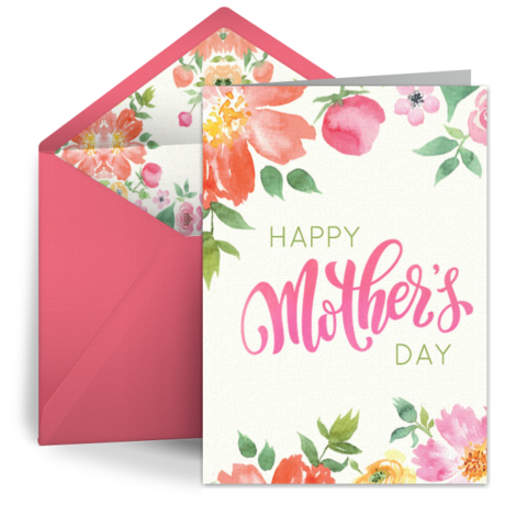 Watercolor Bouquet Free Mothers Day Ecard Mother S Day Card Happy Mother S Day Greetin Free Mothers Day Cards Mothers Day Cards Mother S Day Greeting Cards