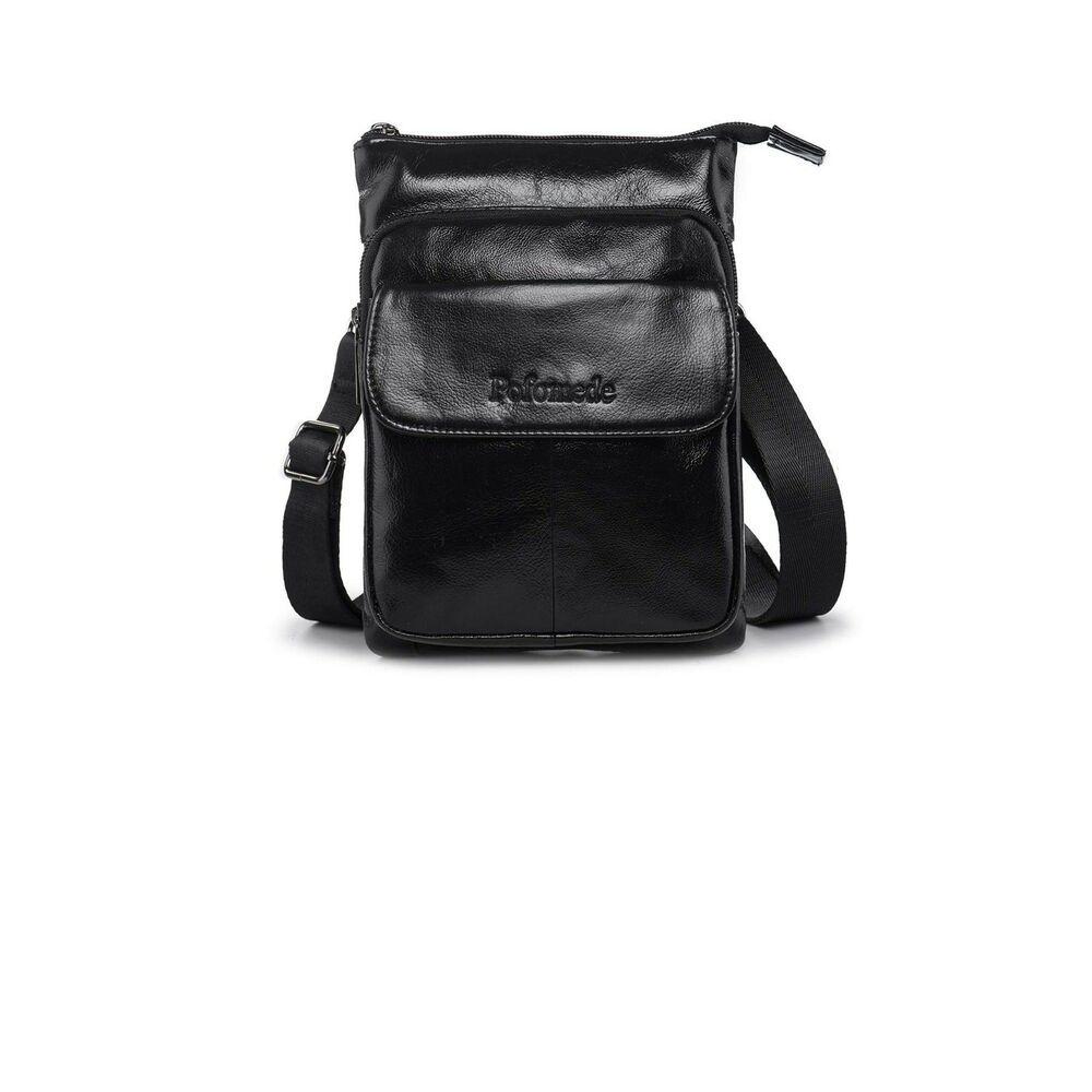bd4d01c6ab7427 Mens Shoulder Bag Leather Cross Body Messenger Purse Travel bag Pack  Organizer #fashion #clothing