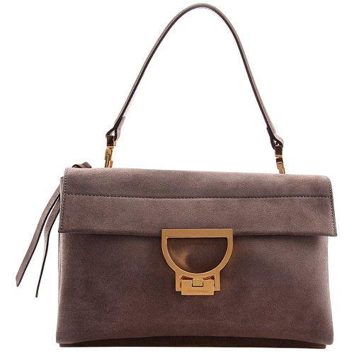 Coccinelle Luxusní kožená kabelka Arlettis Suede Camoscio Asphalt XO6 12 01  01 053 5240380ad51