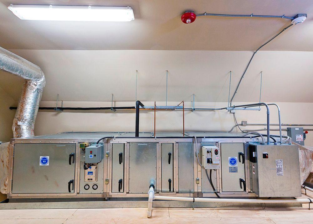 Bioclimatic air purification system Hospital Design