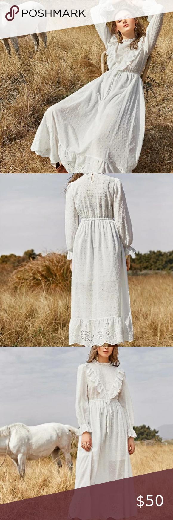 Vintage Ruffle White Dress Lace Dress Vintage Lace Wedding Dress Vintage Vintage Flapper Dress [ 1740 x 580 Pixel ]