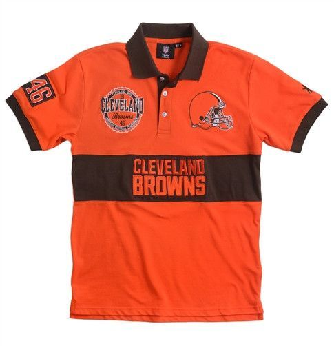 Cleveland Browns Wordmark Rugby Polo