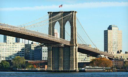 Brooklyn Bridge heading to Manhattan.