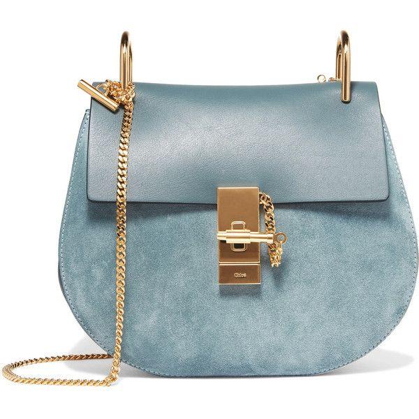 0e4068ab Chloé Drew small leather and suede shoulder bag (89.010 RUB ...
