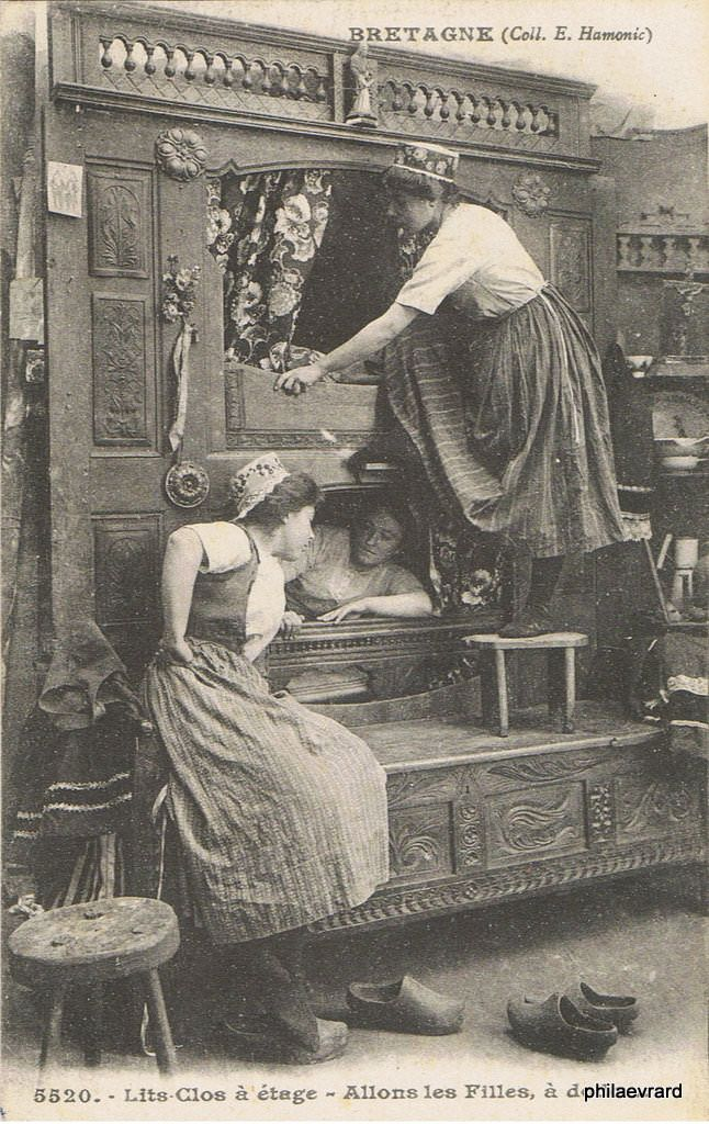 lit clos breton bedclosets pinterest bretagne les anglo normandes et cartes postales. Black Bedroom Furniture Sets. Home Design Ideas