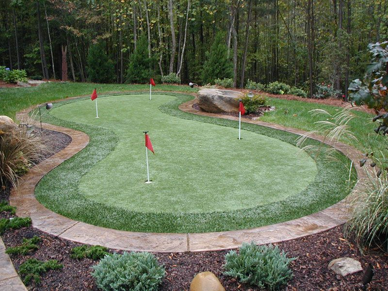 Synthetic putting greens are not complicated to install ...