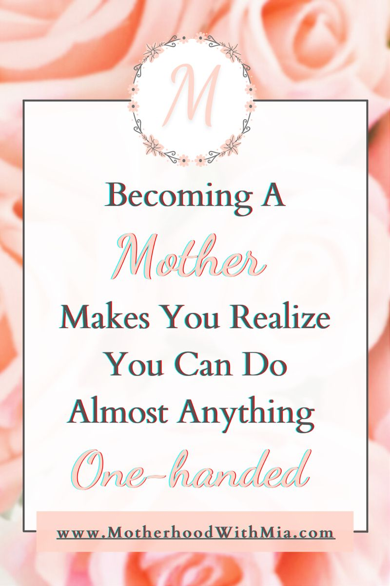 Becoming A Mother Quote