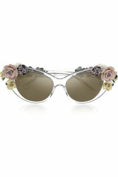 Dolce   Gabbana Lunettes de soleil œil-de-chat en acétate à ornements et  verres effet miroir f76200d575d2