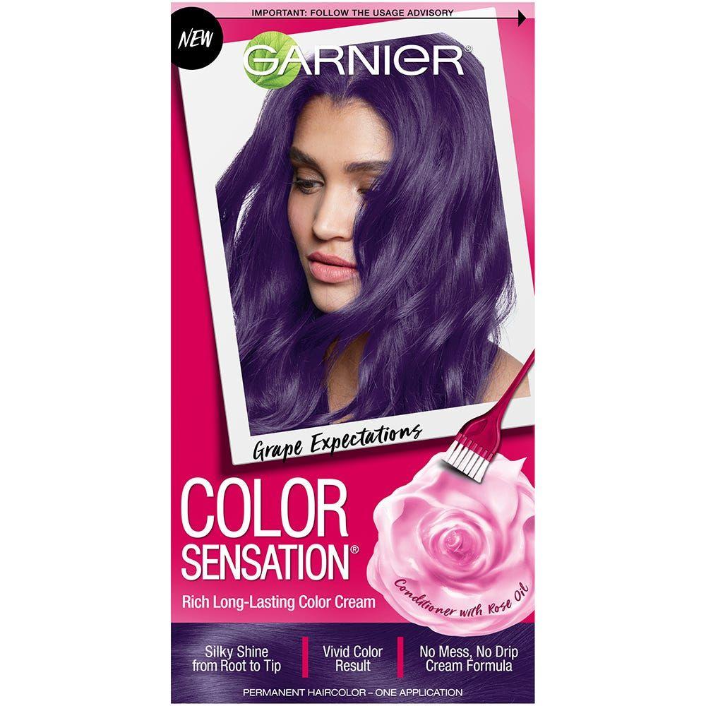 Color Sensation Hair Color Cream 5 21 Grape Expectations Garnier Color Sensation Hair Color Purple Hair Color