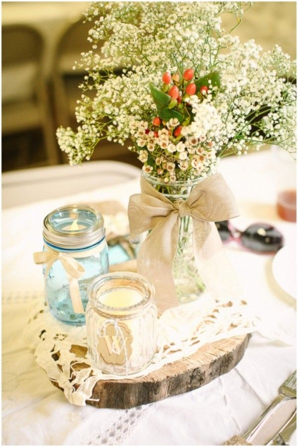 Rustic Wedding on a Budget | Wedding, Wedding and Centrepieces