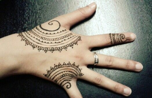 Mehndi Tattoo Cuff : Loving the semi circles lately henna hennatattoo tattoo