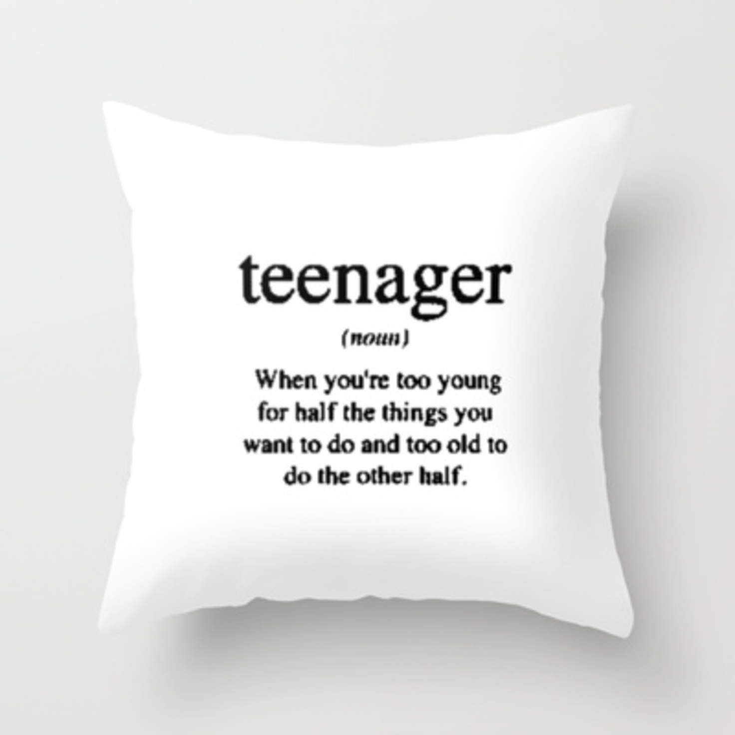 traditional white bed and fluffy pillows in cool teen bedrooms | Teenager. Throw Pillow by Sjaefashion | Society6 | lol in ...