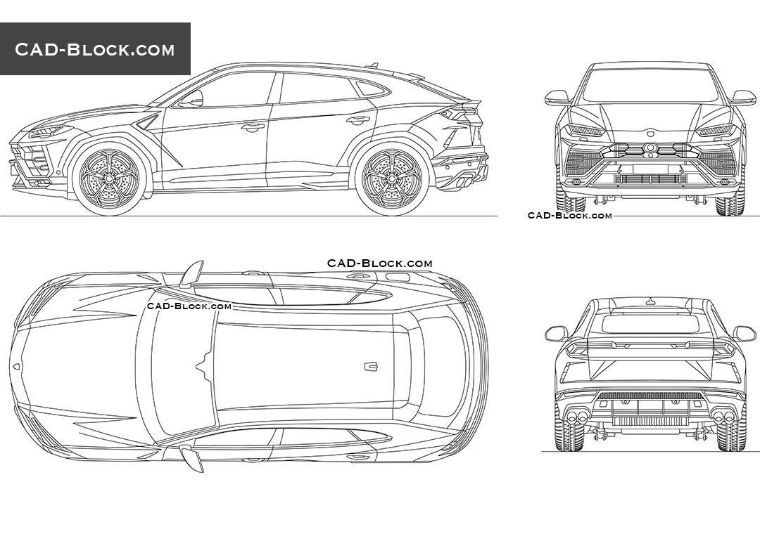 Lamborghini Urus Cad Drawings Cars Nissan Murano Lamborghini