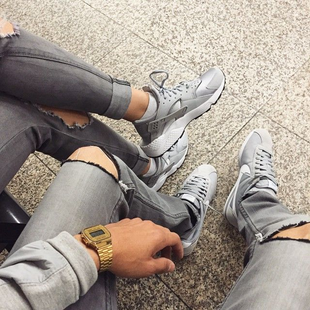 Follow ||UnitedNationz|| for the latest streetwear all grey kicks nikes gold  watch