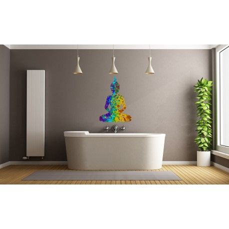 Sticker salle de bain motif Bouddha Zen Belle décoration pour votre ...