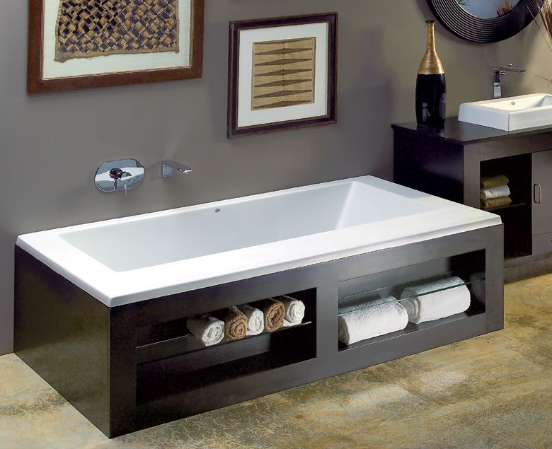 Mti fn84 designer collection metro 60 wooden tub surround for Bathroom sink surround