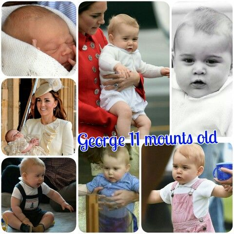 Georgie is 11 month old today!!!  I can't believe he's a year old in a month!!!  #princeGeorge #George #Georgie #PrinceGeorgeofCambridge #mother #DuchessCatherine #father #princeWilliam #britishmonarcy #sweet #royaltoodler