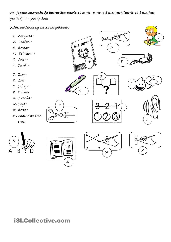 Vocabulario De Las Consignas Vocabulario Worksheets Actividades