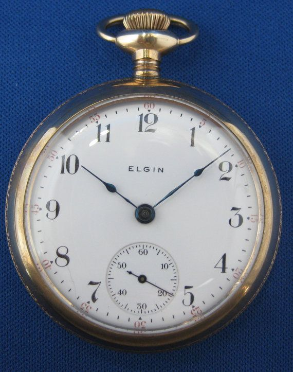 1904 Elgin Pocket Watch Gold Plated By Neighborhoodwatchco On Etsy 270 00