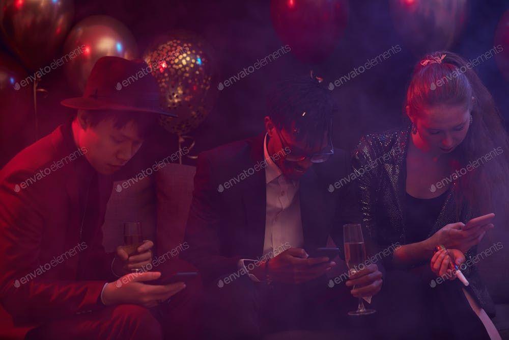 People Using Smartphones in Nightclub By seventyfourimages鈥檚 photos #Ad , #AFF, #People, #Smartphones, #Nightclub